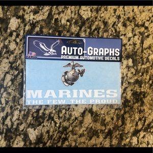 Marines The Few The Proud bumper sticker